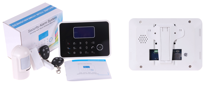 Stunning new touch wireless alarm kit black color