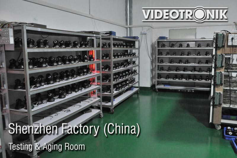 Shenzhen Factory - Testing & Aging Room